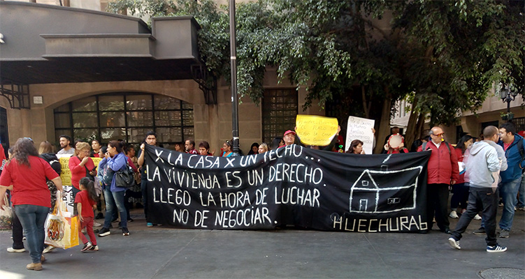 POBLADORES DE HUECHURABA FRENTE AL SERVIU: 15-04-2019