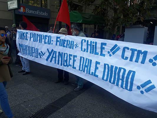 MIKE POMPEO EN CHILE: SIN COMENTARIOS