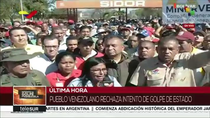 VENEZUELA: MÁXIMA ALERTA Y MOVILIZACIÓN POPULAR: 30 abril 2019: 9.00