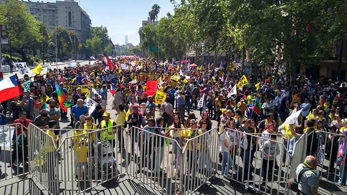 6 DE OCTUBRE: MARCHA NO + AFP EN SANTIAGO