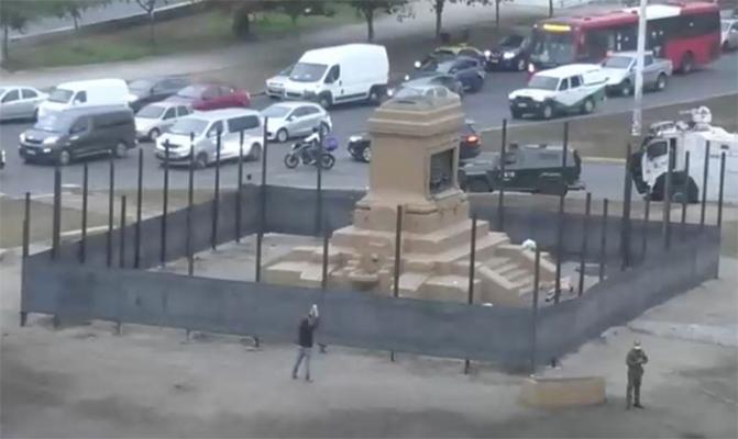 CERCAN PLAZA DIGNIDAD DONDE SE ENCONTRABA MONUMENTO AL GENERAL BAQUEDANO