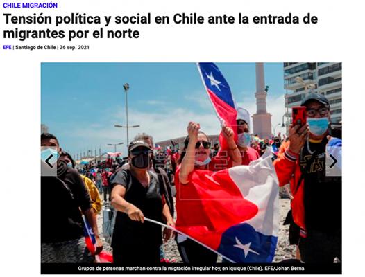 PRENSA INFORMA DE LA XENOFOBIA EN CHILE